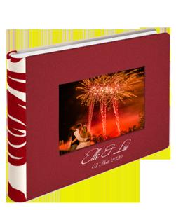 Livre de mariage en cuir couleur rouge de la marqe Graphistudio