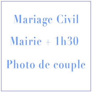 Shooting Mariage Civil Mairie + 1h30 photo de couple