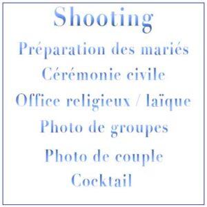 Shooting Préparation – Mariage Civil Mairie – Culte religieux – Cocktail