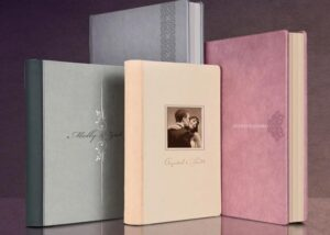 Album Photo Mariage – 40×50 – 100 pages – Livre cuir Nappa – Die Cut – coffret design box Cuir Nappa